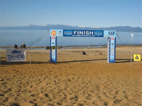 Run to the Beach Finish Line | Tahoe Mountain Sports Blog