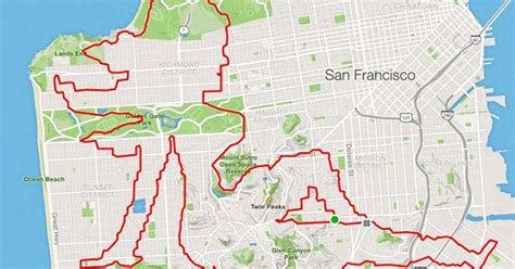Runner uses map running routes as a canvas to create his ...