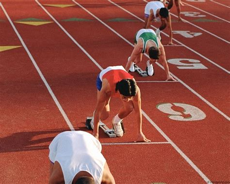 Runners at starting line at running track HD wallpaper ...
