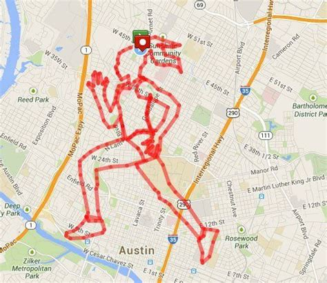 Runners Turn Their GPS Mapped Running Routes Into Art ...