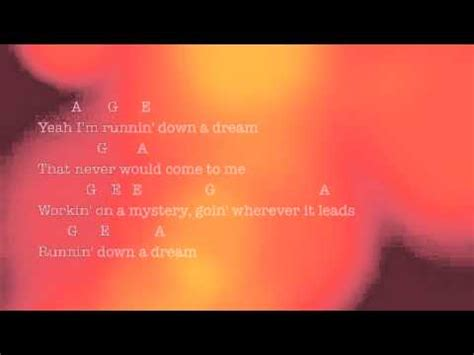 Runnin  Down A Dream by Tom Petty   Lyrics & Chords   YouTube