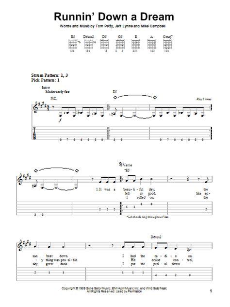 Runnin  Down A Dream   Sheet Music Direct