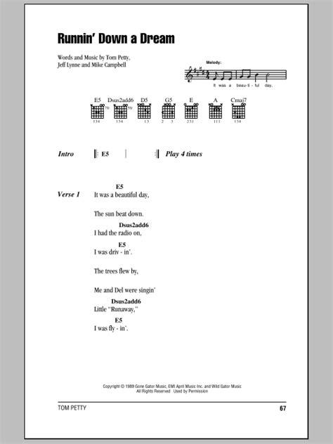 Runnin  Down A Dream Sheet Music | Tom Petty | Guitar ...