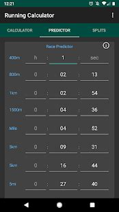 Running Calculator: Pace, Race Predictor, Splits   Apps on ...