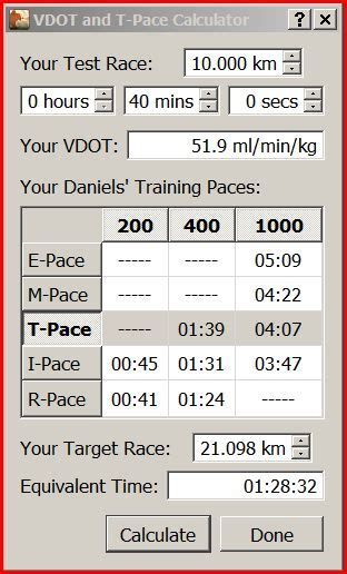 Running features for v3.3 and 4.0 and VDOT Calculator ...