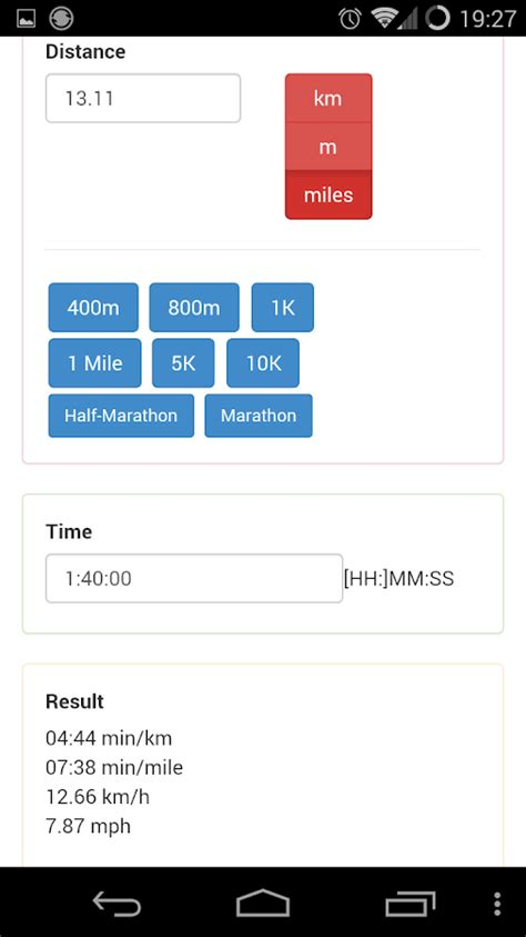 Running pace calculator   Android Apps on Google Play