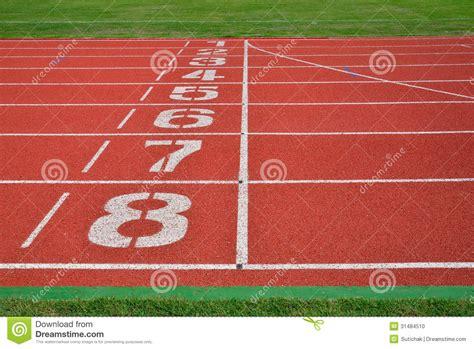Running Track Stock Photo   Image: 31484510