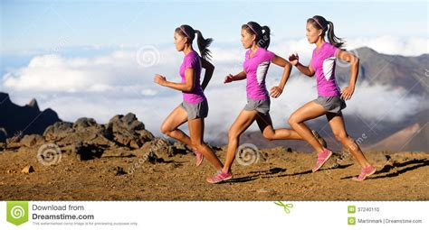 Running Woman   Runner In Speed Motion Composite Stock ...