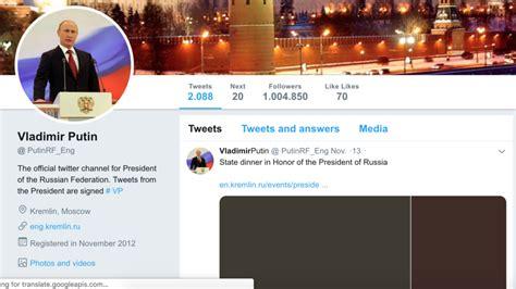 Russian bot in chief? Twitter blocks 'fake Putin' who ...