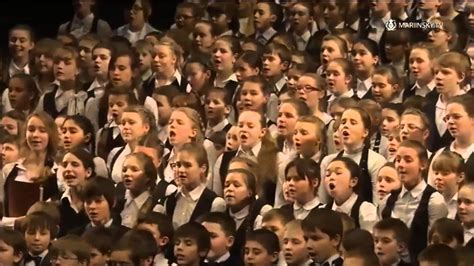Russian National Anthem   Children s Choir At The ...