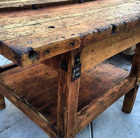 Rustic Wood Vintage Table …   Rustic wood, Diy woodworking ...