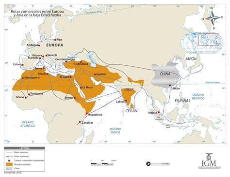 Rutas de comercio entre Europa y Asia en la baja Edad ...