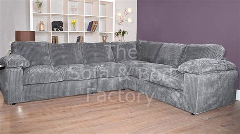 Ruxley Extra Large Cheap 6 Seater Grey Cord Fabric Corner ...