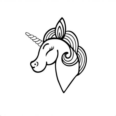 ᐈ Contorno de unicornio para imprimir vectores de stock ...