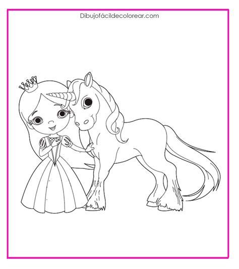ᐈ Dibujo de unicornio Fácil de Colorear  【 Fáciles y Bonitos