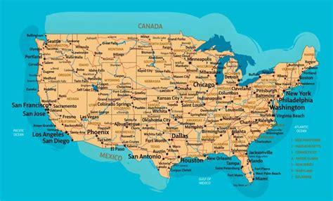 ᐈ Mapas de Estados Unidos de America  USA o EE.UU    para ...