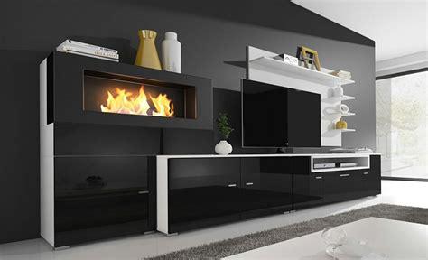 ֍ Mueble salón con chimenea Olympo | Por Qué es el Mejor ...