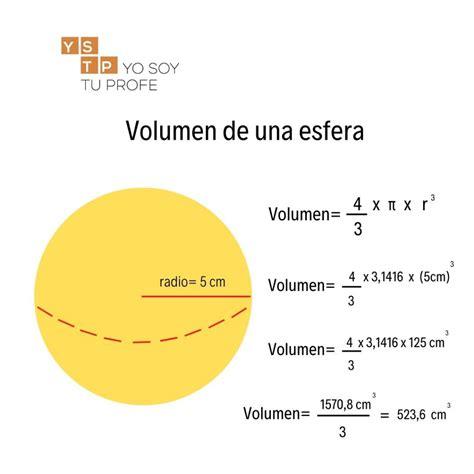 ¿Sabes calcular el volumen de una esfera?   Yo Soy Tu Profe