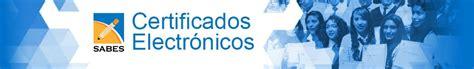 SABES   Certificados Electrónicos