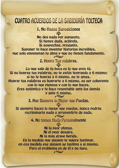Sabiduria Tolteca | Los cuatro acuerdos, Sabiduria tolteca ...