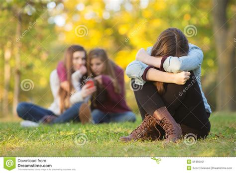 Sad Teen Hiding Face stock image. Image of lonely, self ...