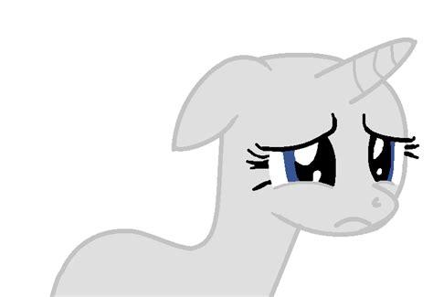Sad Unicorn Base by Applejaz on DeviantArt