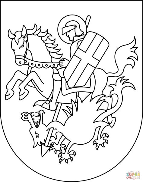 Saint George Killing the Dragon coloring page | Free ...