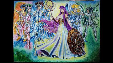 Saint Seiya   Caballeros Del Zodiaco   Dibujo a Colores ...