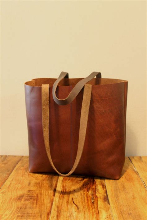 Sale Distressed brown leather tote bag Leather by LimorGalili