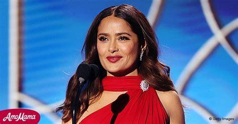 Salma Hayek se robó las miradas en los Globos de Oro con ...