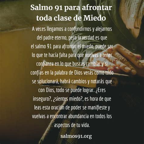 Salmo 91 contra el Miedo | Supera tus inseguridades con ...