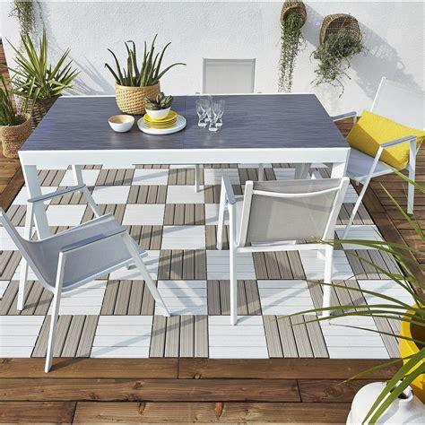 Salon de jardin Marbella aluminium NATERIAL gris, 4 ...