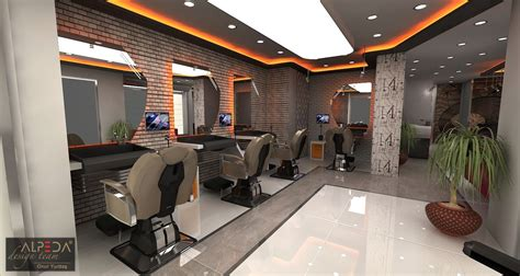 salon design interior   ... & Berber Salon Tasarimi   Hair ...