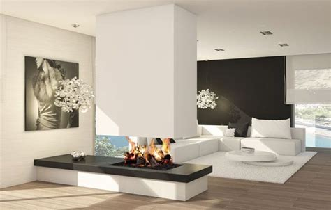 salones con chimeneas modernas   Buscar con Google ...