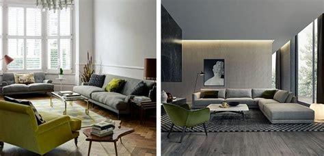 Salones decorados en gris y verde