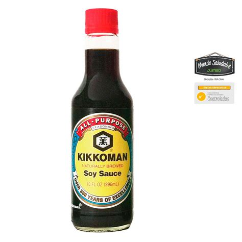 Salsa Soya Kikkoman x 296ml tiendasjumbo.co   Jumbo Colombia