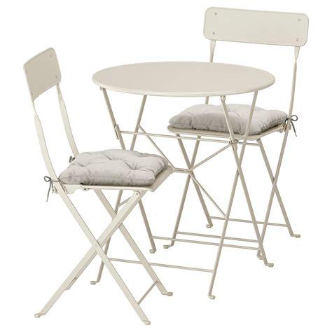 SALTHOLMEN Mesa y 2 sillas plegables, exterior   beige ...