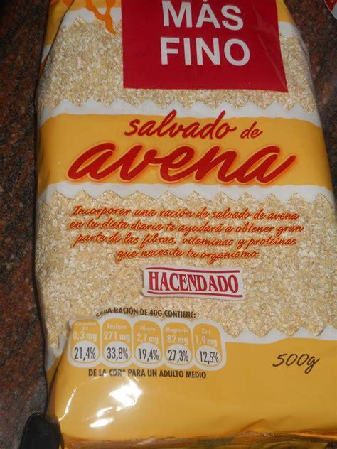 Salvado de Avena Hacendado  Mercadona    1 Cd  15 gr    1 ...