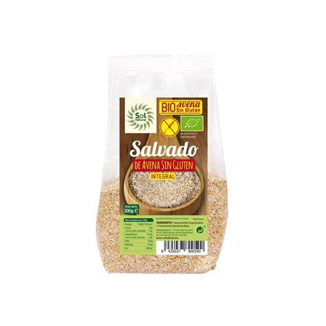 Salvado de avena sin gluten bio 300 g Sol Natural