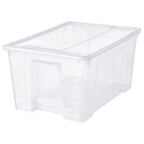 SAMLA Boîte avec couvercle   transparent   IKEA