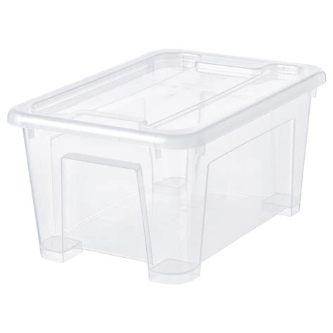 SAMLA Box with lid   transparent   IKEA
