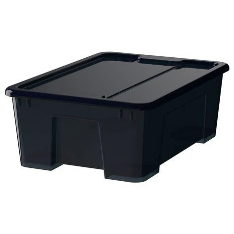 SAMLA Krabice s víkem   transparentní 28x20x14 cm/5 l ...
