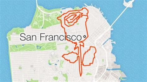 San Francisco man maps out elaborate designs on his ...