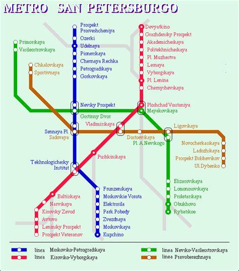 San Petersburgo, transporte urbano, metro, autobus ...