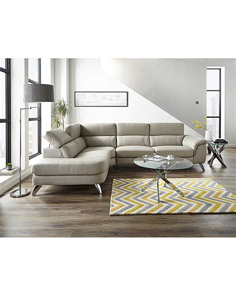 San Remo Leather Righthand Cornergroup   Coffee table ...