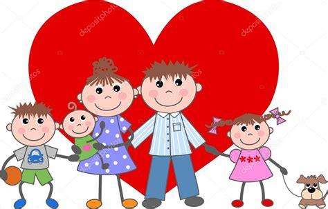 San Valentino amore famiglia — Vettoriali Stock  popocorn ...