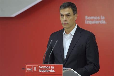 Sánchez pide a Rajoy que presente hoy mismo su dimisión ...