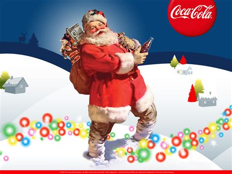 Santa Claus with Coca Cola on Christmas wallpapers and ...