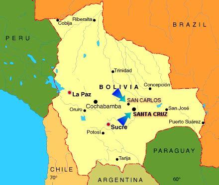 Santa Cruz Bolivia Map