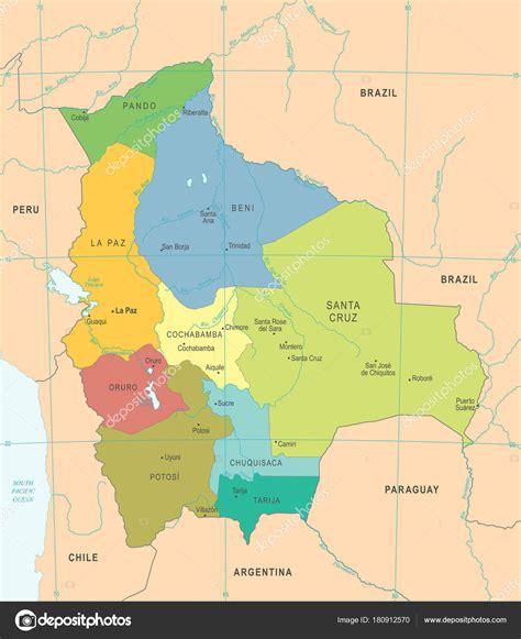 Santa cruz bolivia mapa | Mapa de Bolivia   ilustración ...